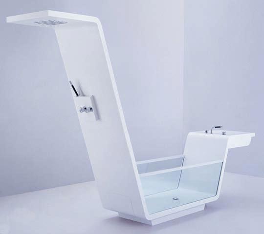 modern corian glass tub