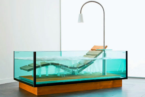 Glass Bathtub if it's hip, it's here (archives): modern glass bathubs just keep