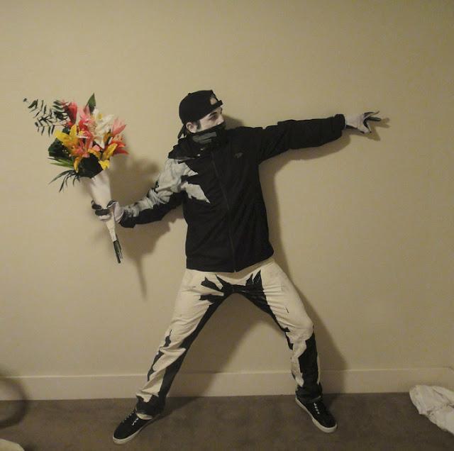 Banksy Flower Thrower Halloween Costume