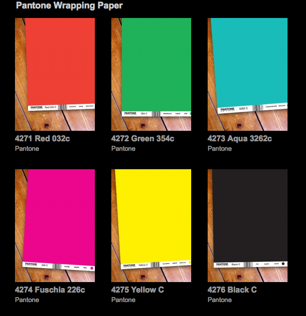pantone wrapping paper