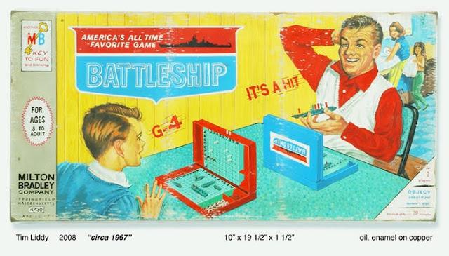 Vintage Battleship Board Game painting