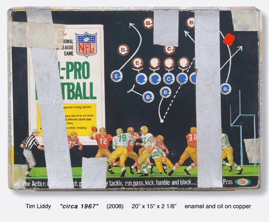 NFL pro football board game 1967 as a painting