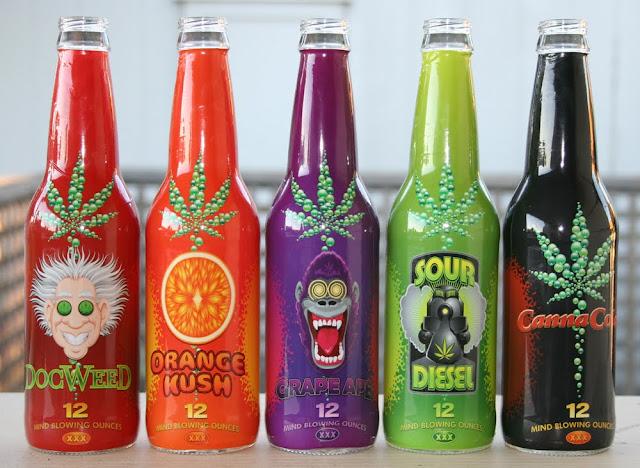 Canna Cola Flavored Sodas