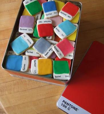 Pantone Color Chip Cookies