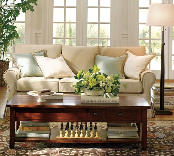 Home Decorating Ideas Contemporary Warm Living Room Interior Design Ideas By Potterybarn