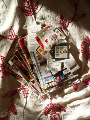 Frugal Tips - cut and sorted coupons