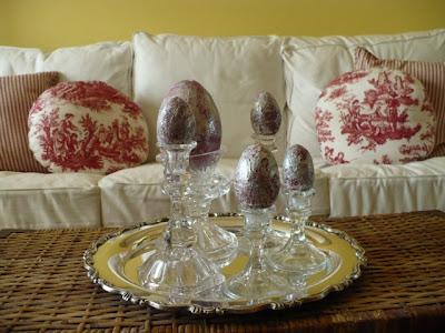 mod podged Easter eggs
