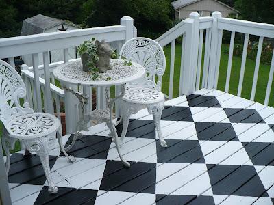diy checkerboard floor