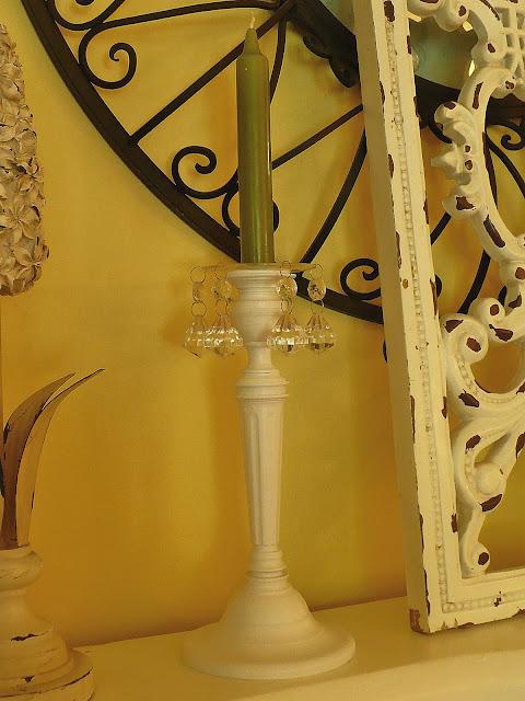 spray painted brass candelholders