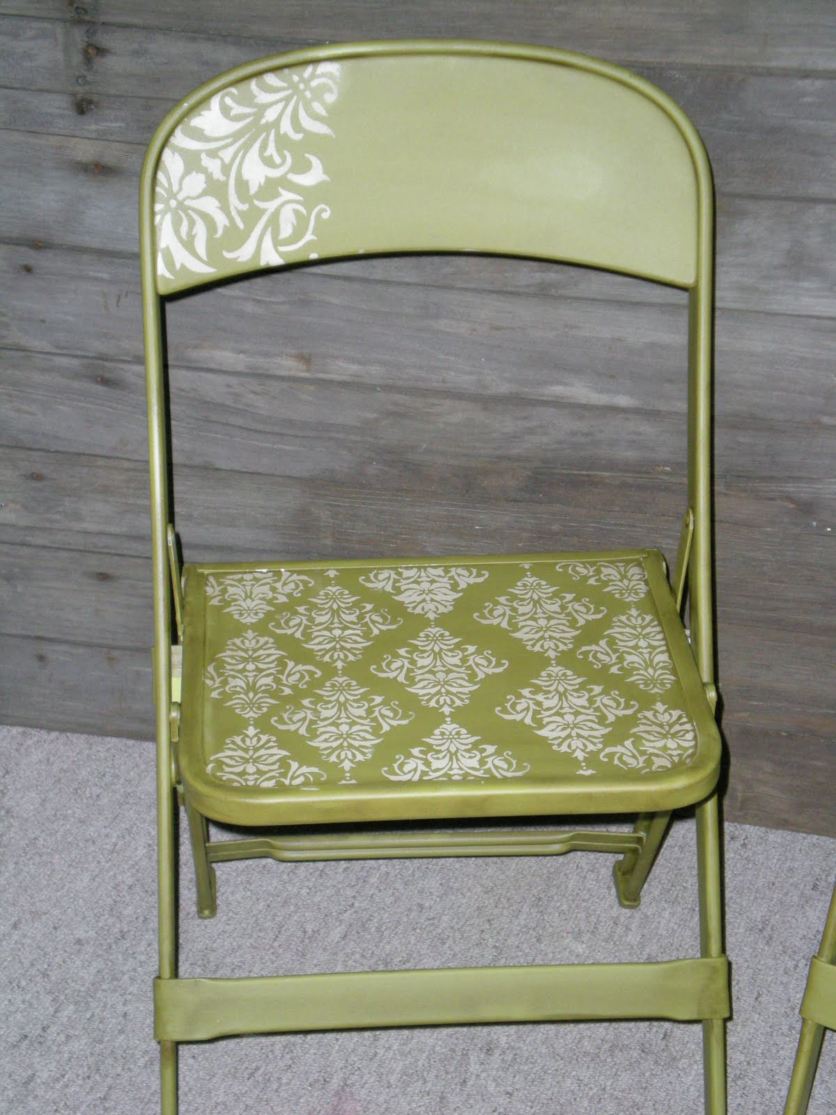 Folding Chair Upcycle Waterproof Covers For Recliners Jenny And Ashley 39s Redos Damask Chairs