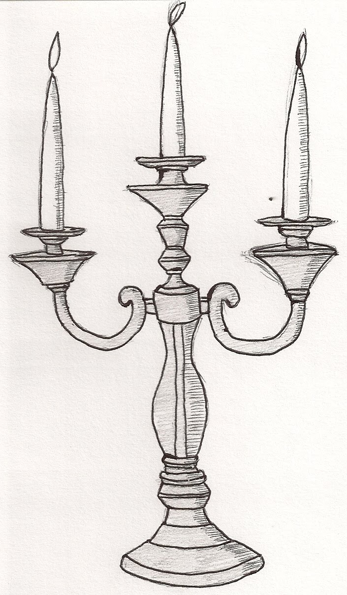 It is a photo of Revered Drawing Of A Candle