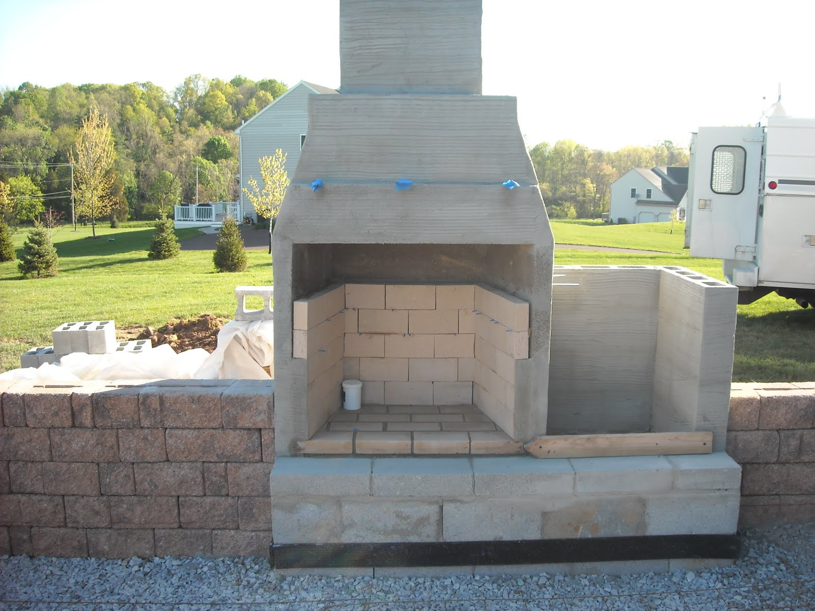 Outdoor Fireplace Contractors Concrete Block Outdoor Fireplace Design Pictures To Pin On