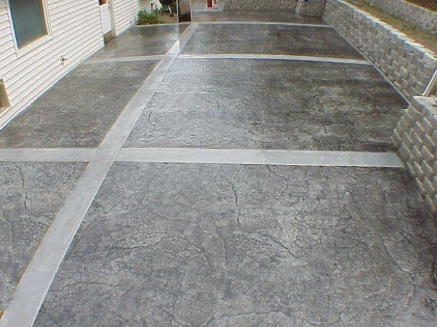 Concrete decoración patio
