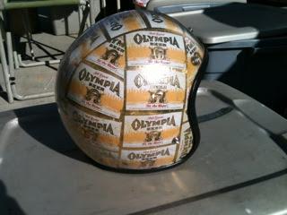 vintage klass olympia beer helmet. Black Bedroom Furniture Sets. Home Design Ideas