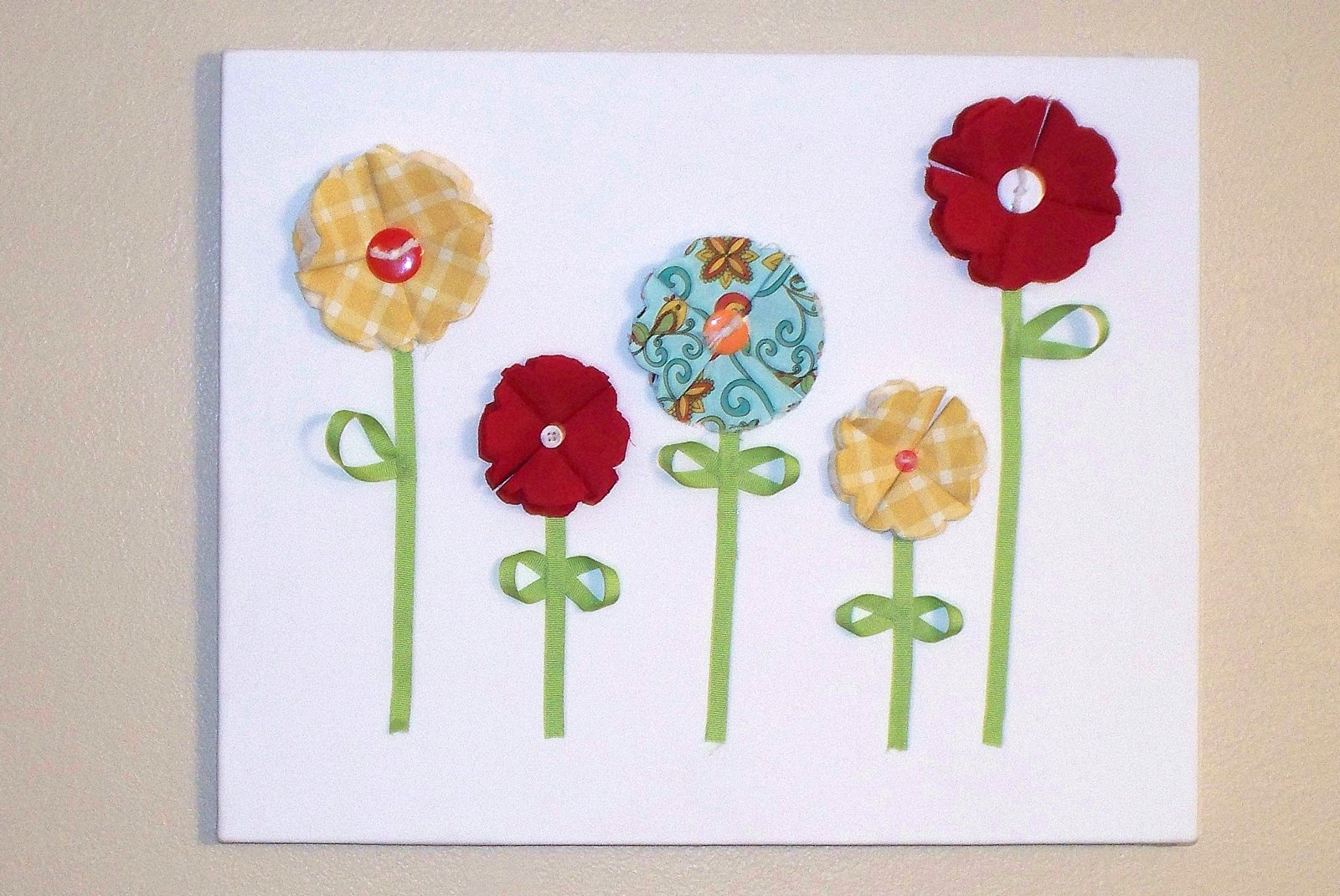 Chicy Creations: 3D Fabric Flower Wall Art