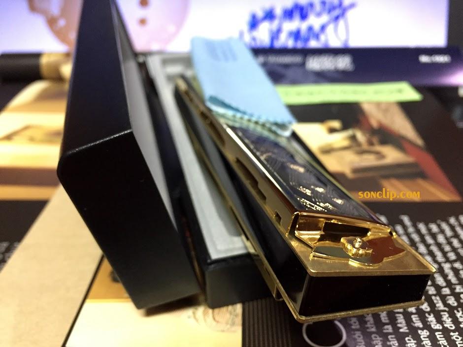 Kèn Harmonica - Tombo Super 21 Deluxe Gold (Key A)