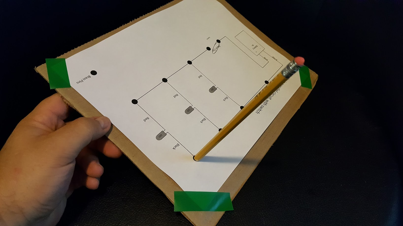 Scout Dad Texas Webelos Elective Adventures In Science Building And Parallel Circuits For Kids Worksheets Series Its Best To Put Them Either Side Of The Hole Support It Or Board So Hold Is Just Off Edge Table As Shown