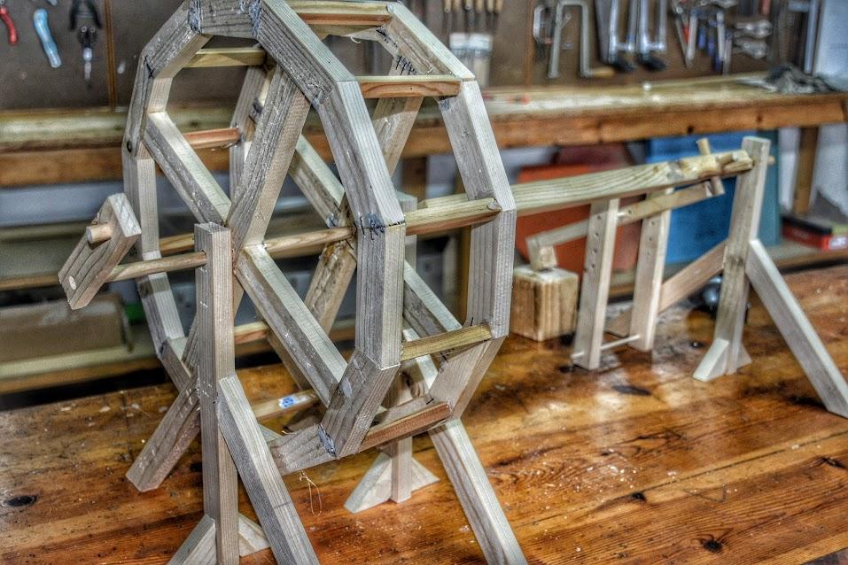 Martinete madera trabajo metales