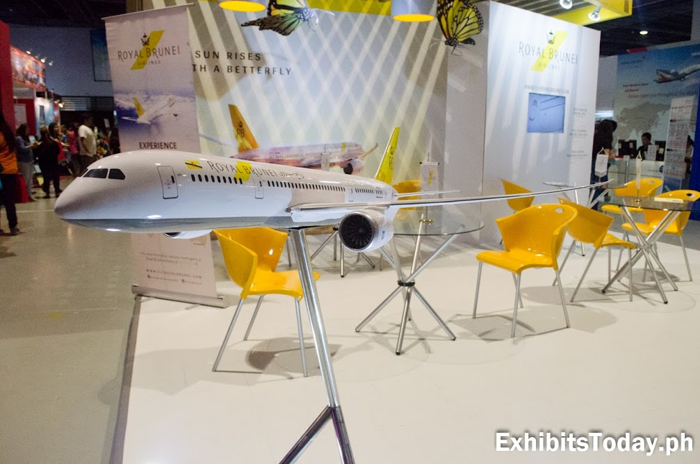 Royal Brunei Airlines Airplane Display