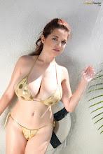 Tessa Fowler -  Gold Bikini Shower