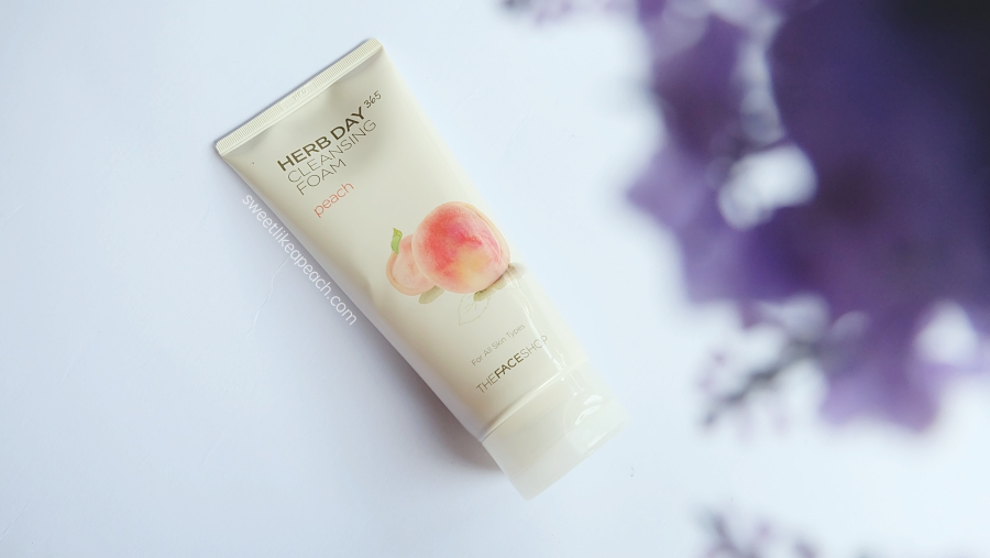 The Face Shop Herb Day 365 Peach Cleansing Foam
