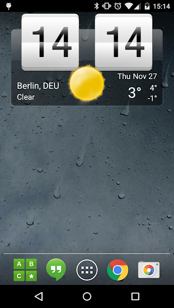 sense-flip-clock-weather-pro-screenshot-1