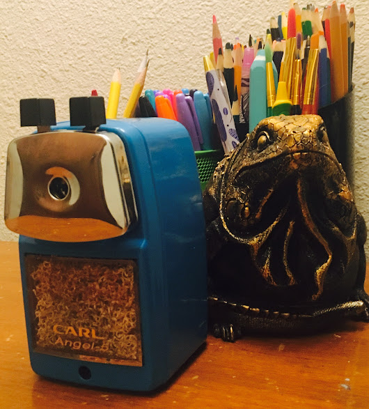 Finally, the perfect pencil sharpener! #CarlAngel5