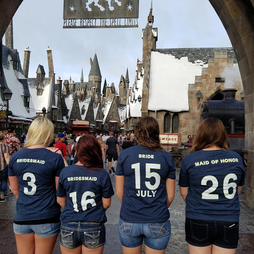 harry potter themed bachelorette party universal studios wizarding world of harry potter bridal party shirts