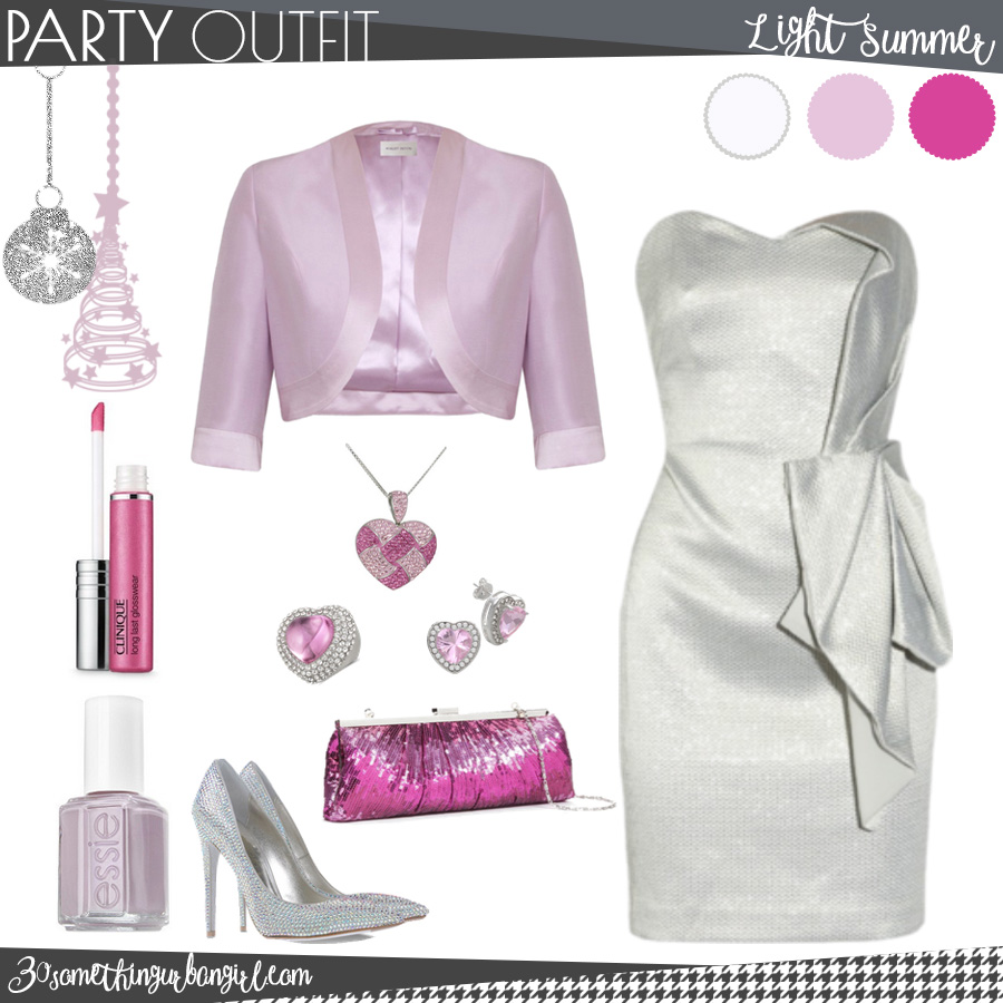 Chic Christmas party outfit for Light Summer seasonal color women