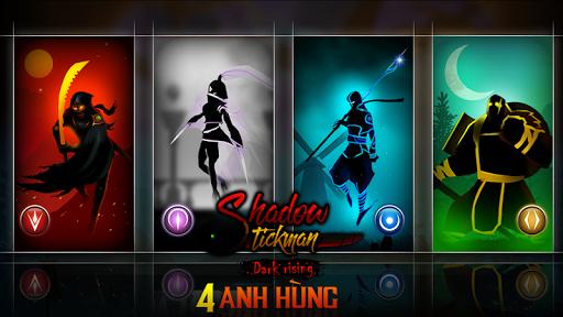 Shadow Stickman bóng tối trỗi dậy chiến binh ninja