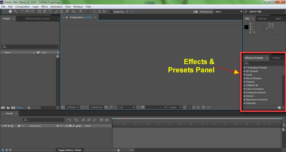 AFTER EFFECTS Beginner Course: Getting to Know The Interface | The