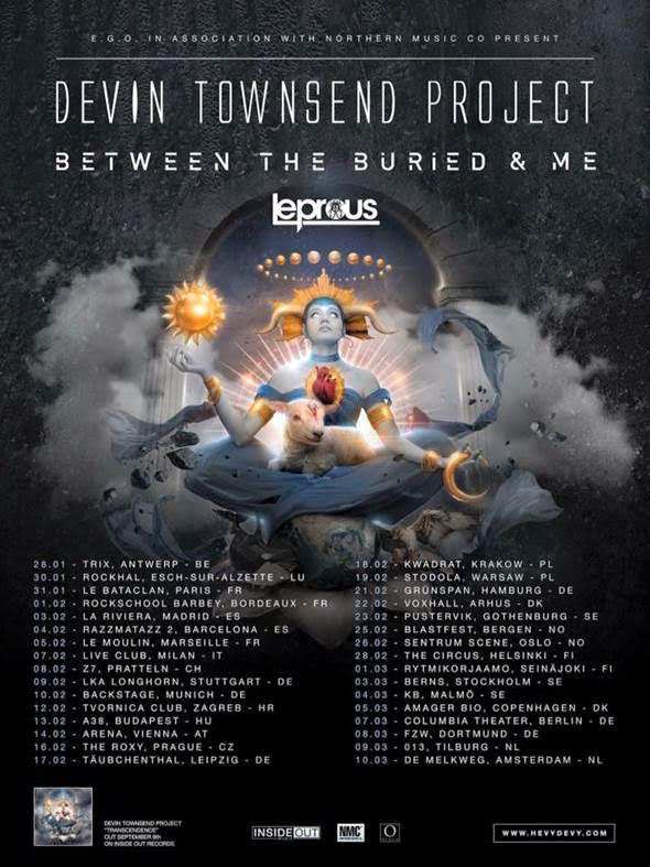 Devin Townsend Project + Between The Buried And Me + Leprous @European Tour 2017