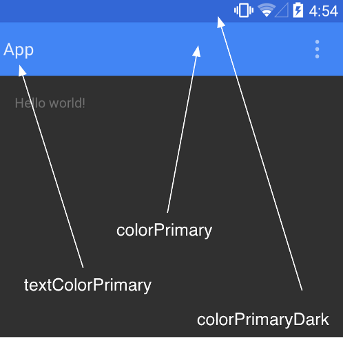 Android Material Design ActionBar Color
