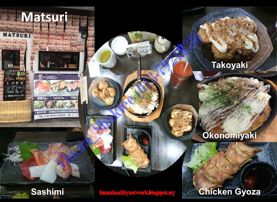 Matsuri, sashimi, okonomiyaki seafood, takoyaki, RM100 makan, Japan