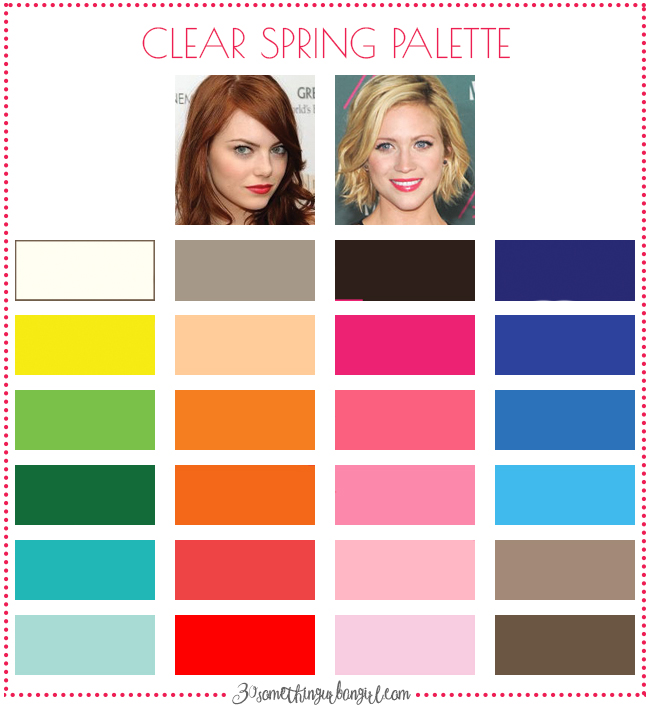 Best colors for Clear Spring seasonal color women; Clear Spring color palette
