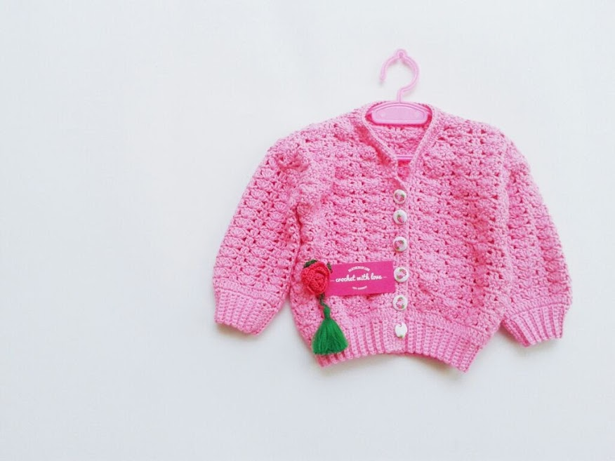 Crochet Baby Sweater, Sweater Rajut Bayi, Blocking Rajutan, Cara Blocking Rajutan, Crochet Blocking