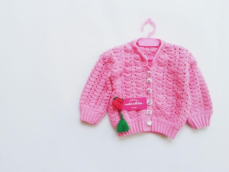 Crochet Baby Sweater, Sweater Rajut Bayi, Blocking Rajutan, Cara Blocking Rajutan, Crochet Blocking