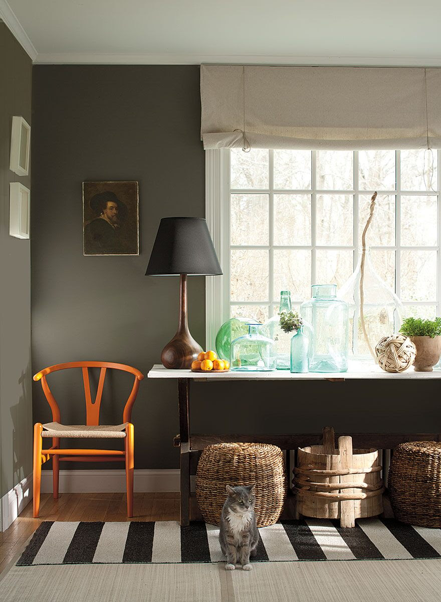 benjamin moore carter gray paint on walls
