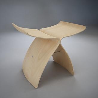 [3Dsmax] 3D model free - Butterfly Stool
