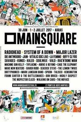Main Square Festival 2017, Arras 30 juin, 1 & 2 juillet 2017
