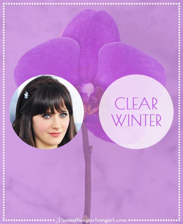Clear Winter seasonal color palette description by 30somethingurbangirl.com