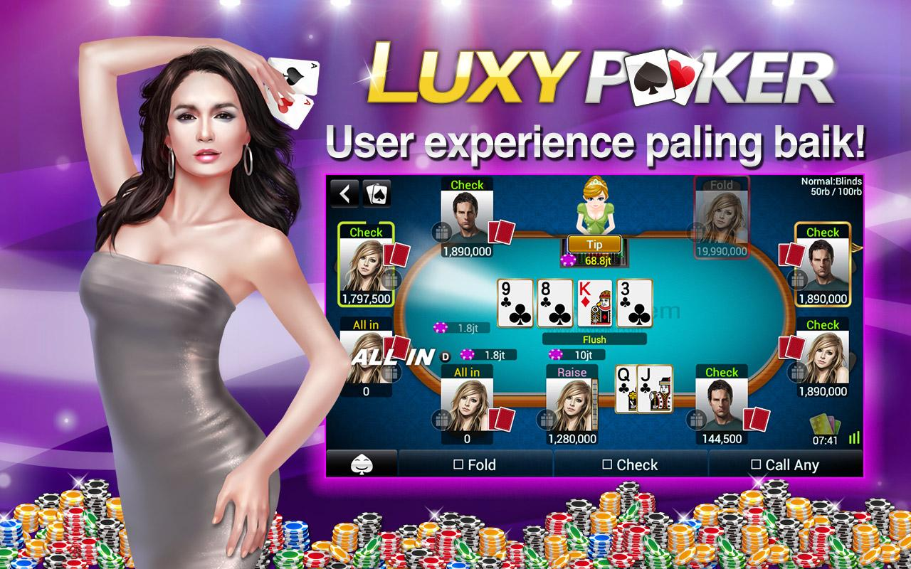 game luxy poker texas holdem