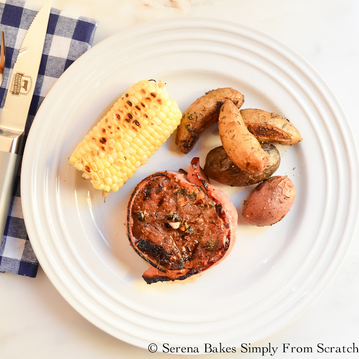 Bacon Wrapped Balsamic Marinated Sirloin Filet is a must make on the grill!