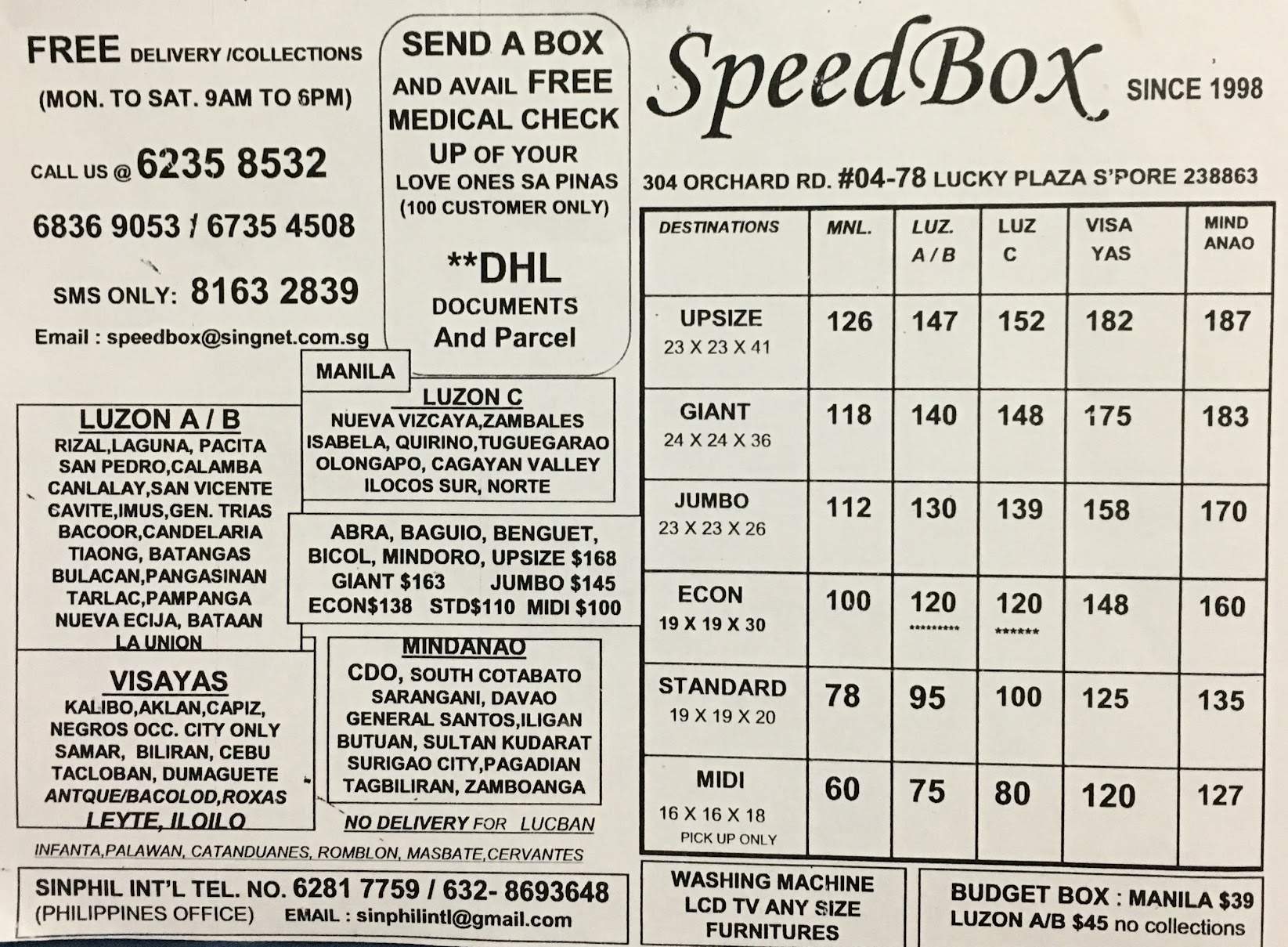 speed box dhl