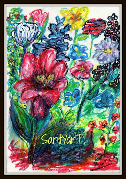 abstracto floral con ceras